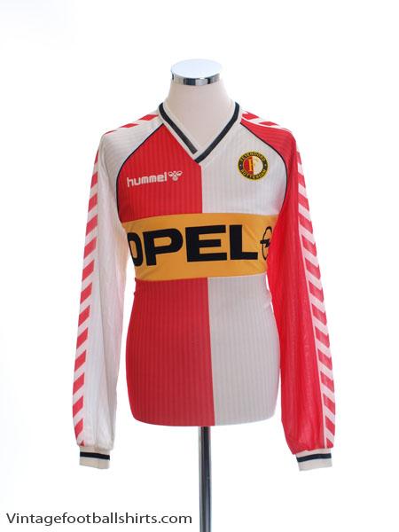 1987-89 Feyenoord Home Shirt L/S XL