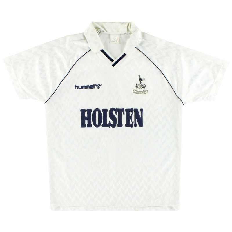 1987-89 Tottenham Hummel Home Shirt XL