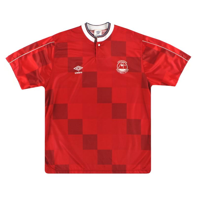 1987-90 Aberdeen Umbro Home Shirt L