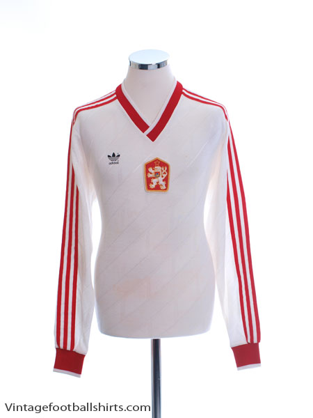 1987 Czechoslovakia Match Issue Home Shirt L/S #7 L