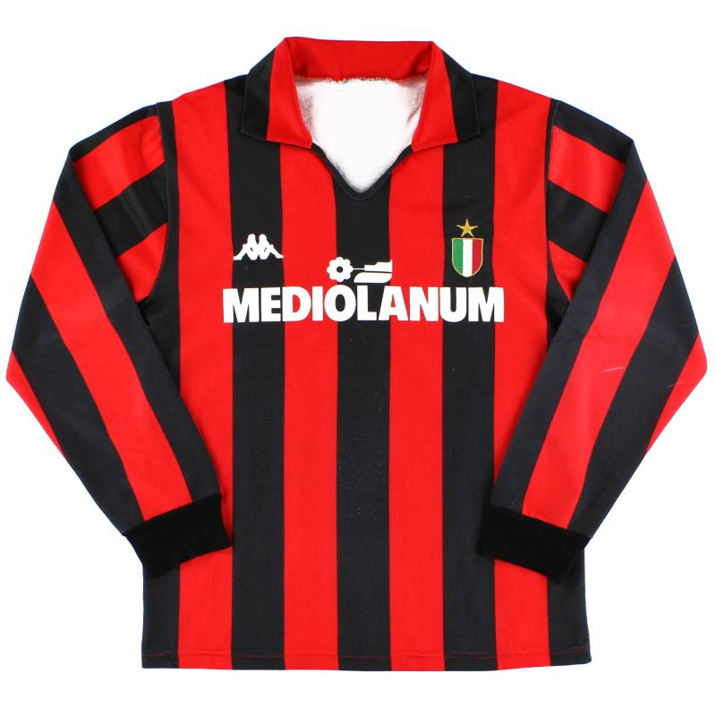 1988-89 AC Milan Kappa Home Shirt L/S XL