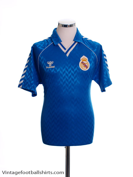 1988-89 Real Madrid Away Shirt L
