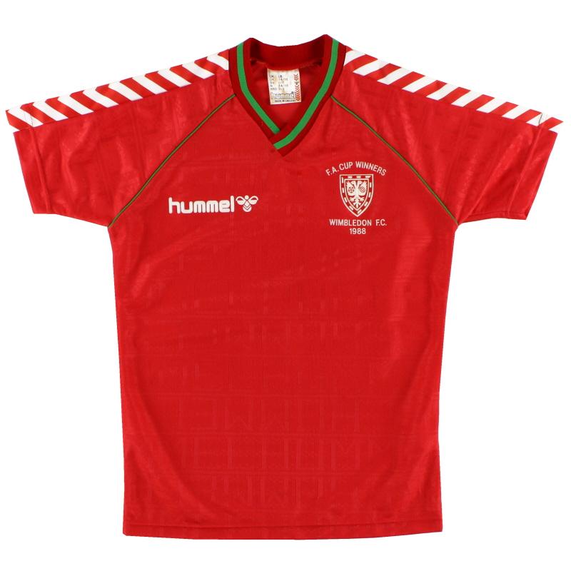 1988-89 Wimbledon Hummel 'F.A. Cup Winners' Away Shirt L.Boys