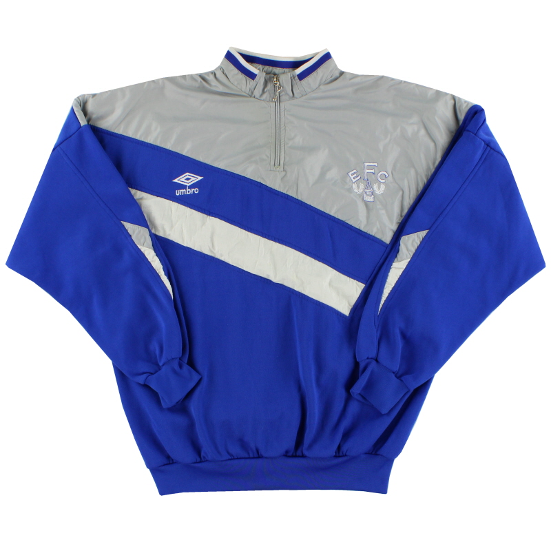 1988-90 Everton Umbro 1/4 Zip Track Top M