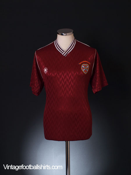 1988-90 Hearts Home Shirt M
