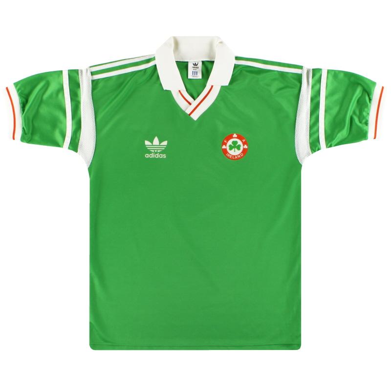 1988-90 Ireland adidas Home Shirt L