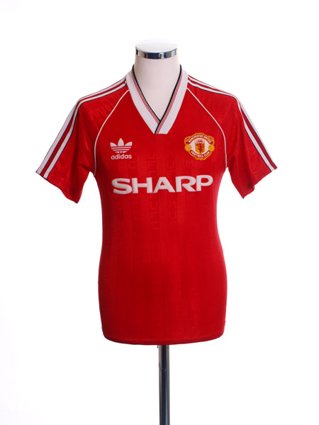 1988-90 Manchester United Home Shirt *Mint* S