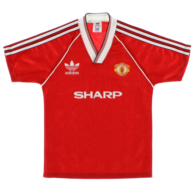 1988-90 Manchester United Home Shirt L.Boys - MH.5004