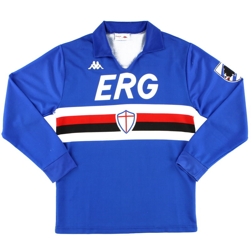 1988-90 Sampdoria Home Shirt L/S M