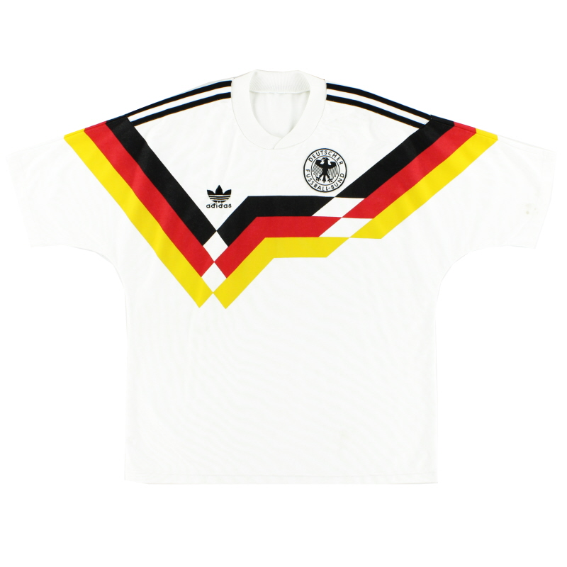 1988-90 West Germany adidas Home Shirt *Mint* M