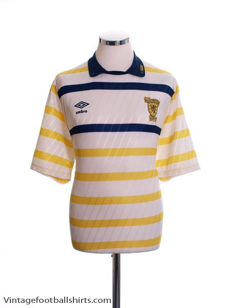 1988-91 Scotland Away Shirt XL