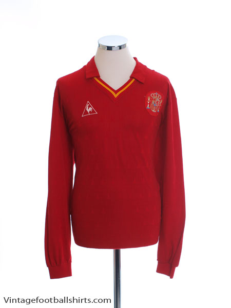 1989 Spain Match Worn Home Shirt L/S #2 (Chendo) v N-Ireland XL