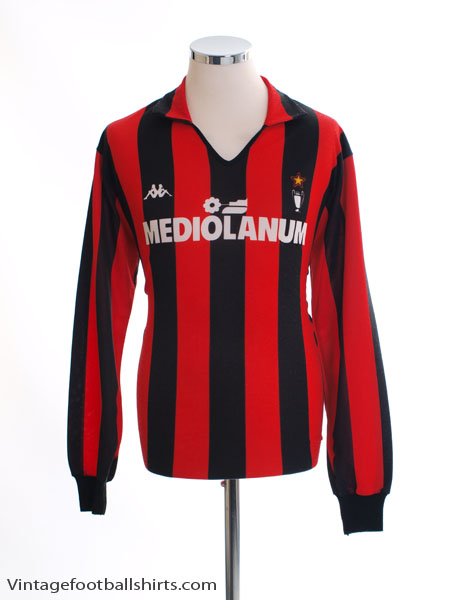 1989-90 AC Milan Home Shirt L/S XL