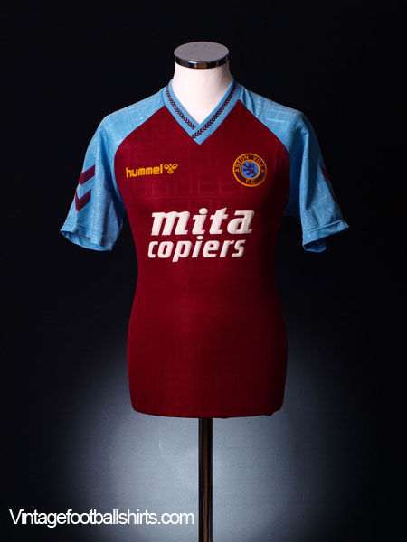1989-90 Aston Villa Home Shirt XL