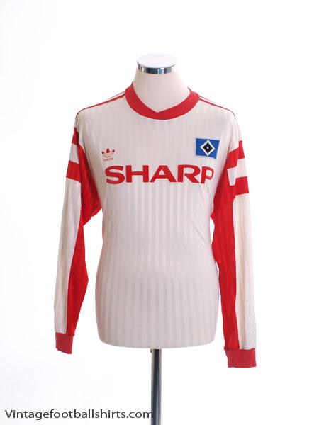 1989-90 Hamburg Home Shirt L/S L