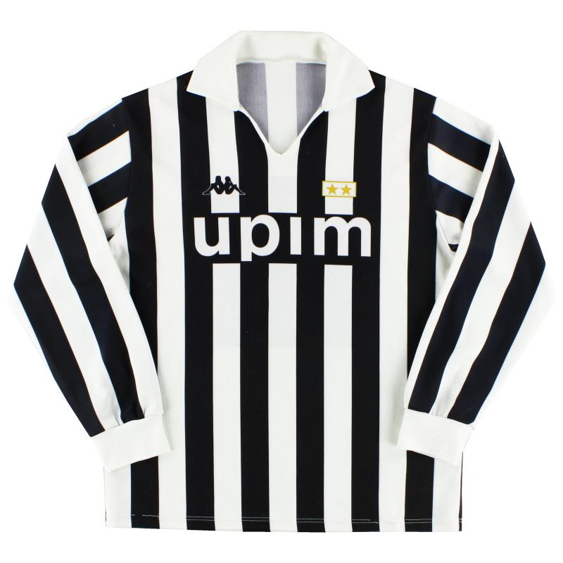 1989-90 Juventus Kappa Home Shirt L/S #11 XL