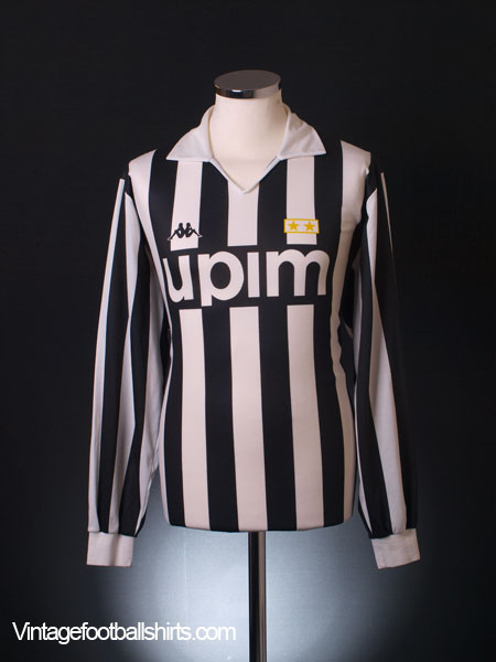 1989-90 Juventus Home Shirt L/S  XL