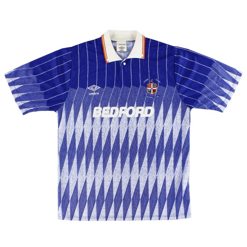 1989-90 Luton Town Away Shirt *Mint* M