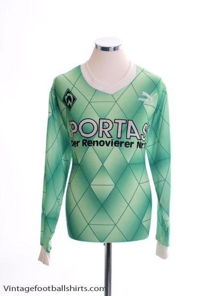 1989-90 Werder Bremen Away Shirt L/S L