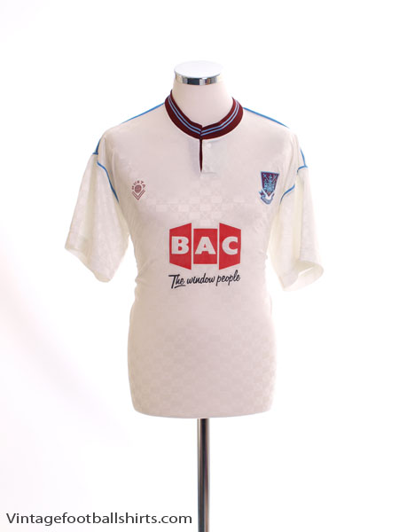 1989-90 West Ham Away Shirt L