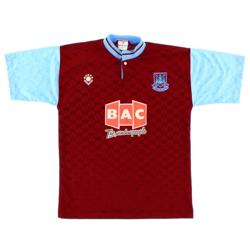 1989-90 West Ham Home Shirt S