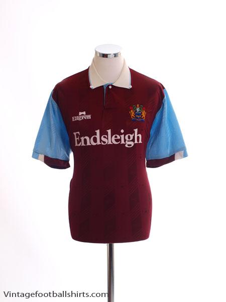 1989-91 Burnley Home Shirt L