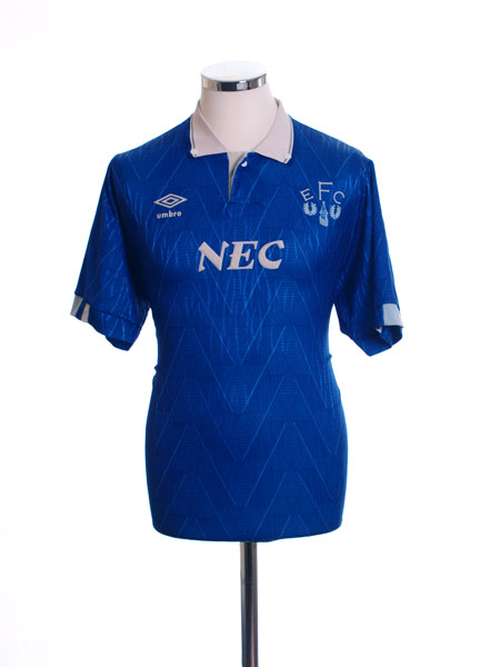 1989-91 Everton Home Shirt L