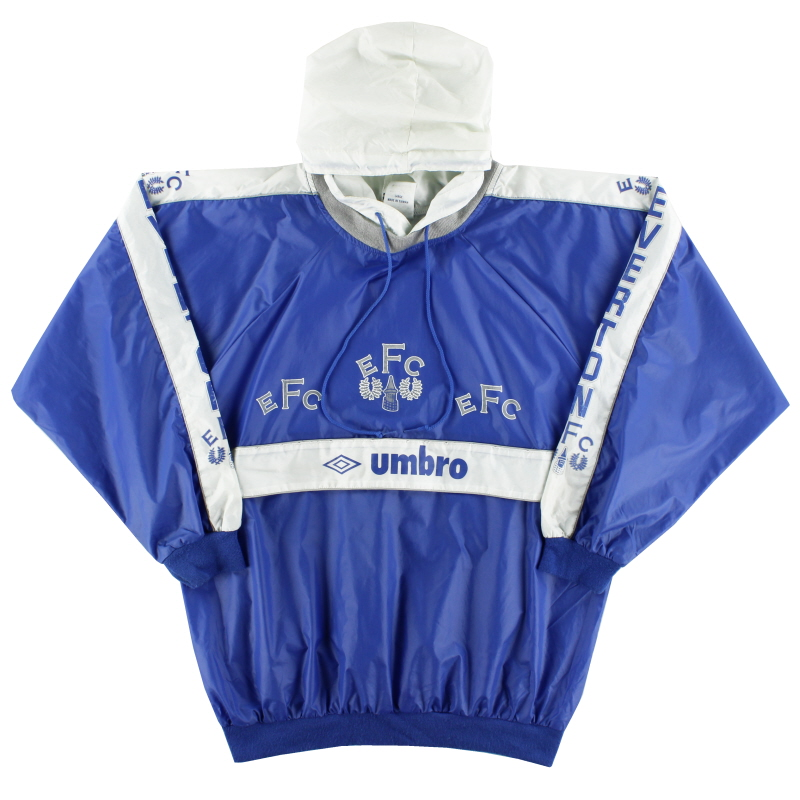 1989-91 Everton Umbro Hooded Drill Top L
