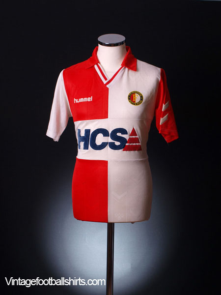 1989-91 Feyenoord Home Shirt L