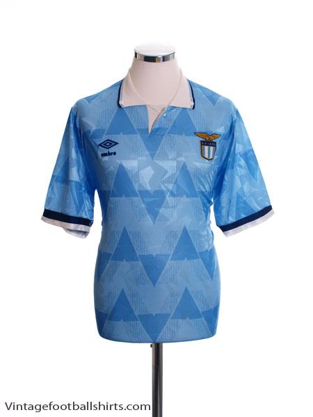 1989-91 Lazio Home Shirt L