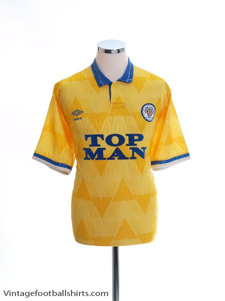 1989-91 Leeds Away Shirt L