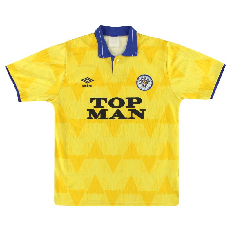 1989-91 Leeds Umbro Away Shirt M