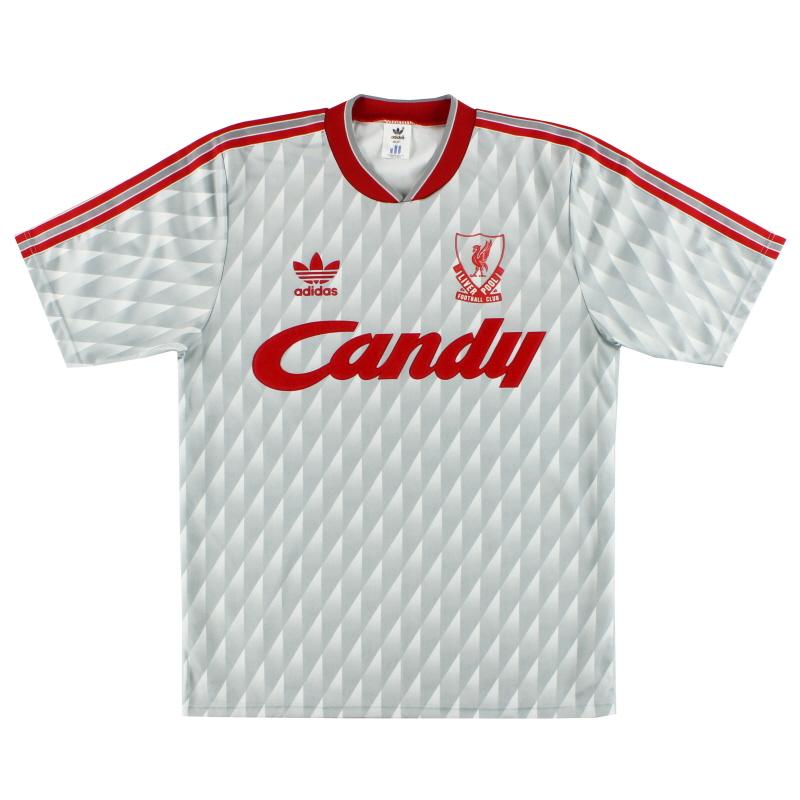 1989-91 Liverpool adidas Away Shirt M