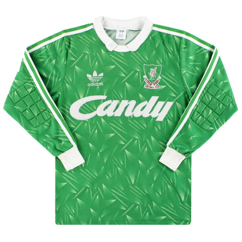 1989-91 Liverpool adidas Goalkeeper Shirt #1 *Mint* M