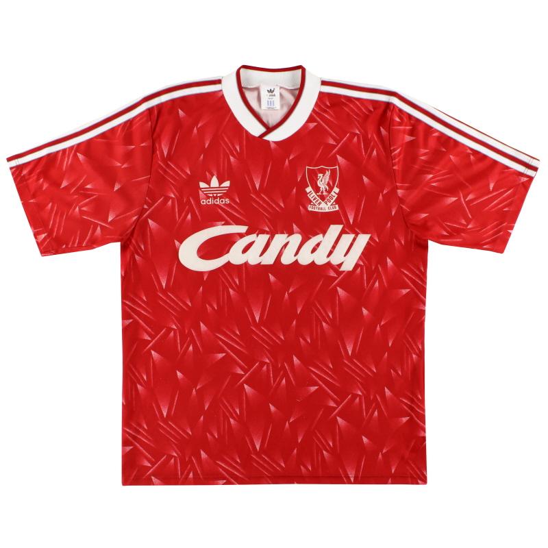 1989-91 Liverpool adidas Home Shirt M/L - 300746