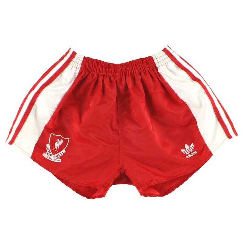 1989-91 Liverpool adidas Home Shorts XS