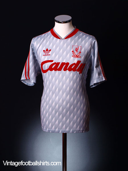 1989-91 Liverpool Away Shirt S