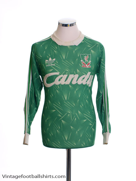 1989-91 Liverpool Goalkeeper Shirt L/S S