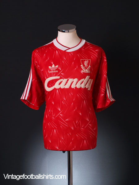 1989-91 Liverpool Home Shirt Y