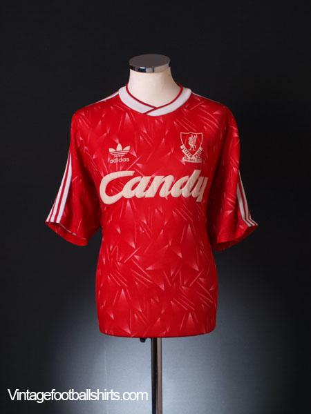 1989-91 Liverpool Home Shirt M