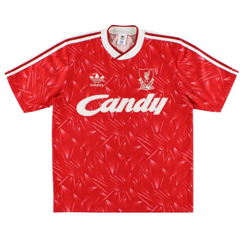 1989-91 Liverpool Home Shirt M - 300746