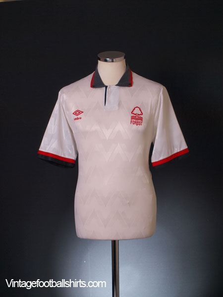 1989-91 Nottingham Forest Away Shirt L