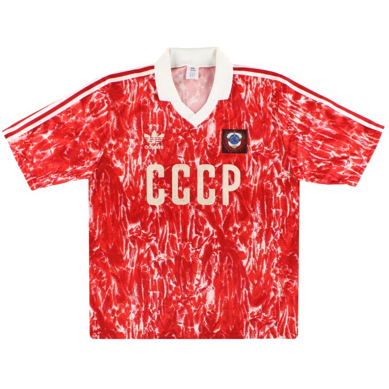 1989-91 Soviet Union adidas Home Shirt L - 301084