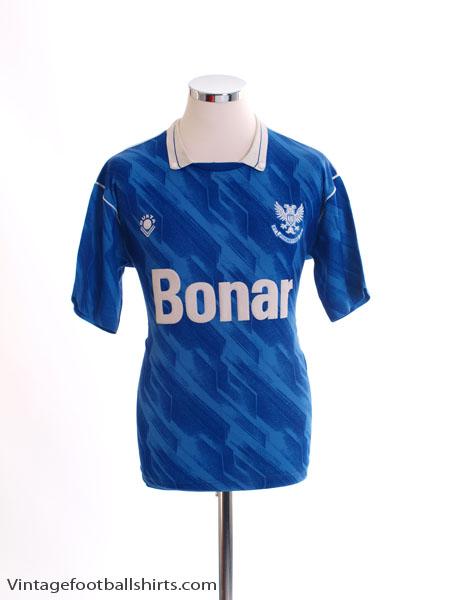 1989-91 St Johnstone Home Shirt S