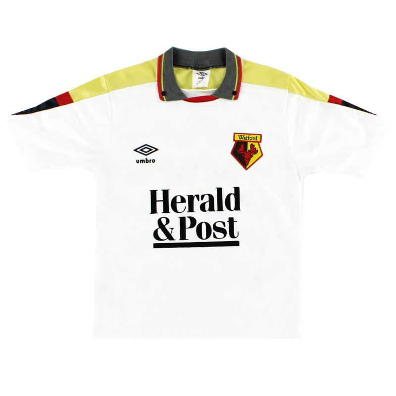 1989-91 Watford Umbro Away Shirt L.Boys