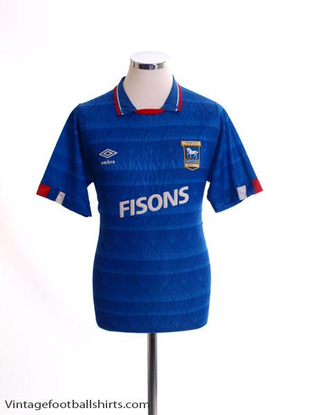 1989-92 Ipswich Home Shirt S