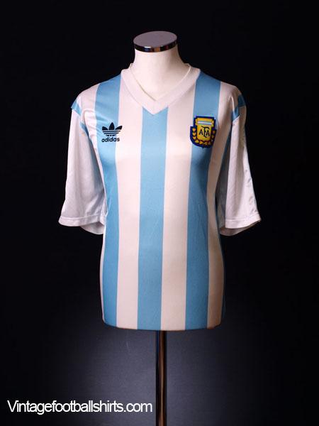 1990-91 Argentina Home Shirt L