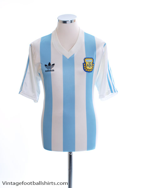 1990-91 Argentina Home Shirt M