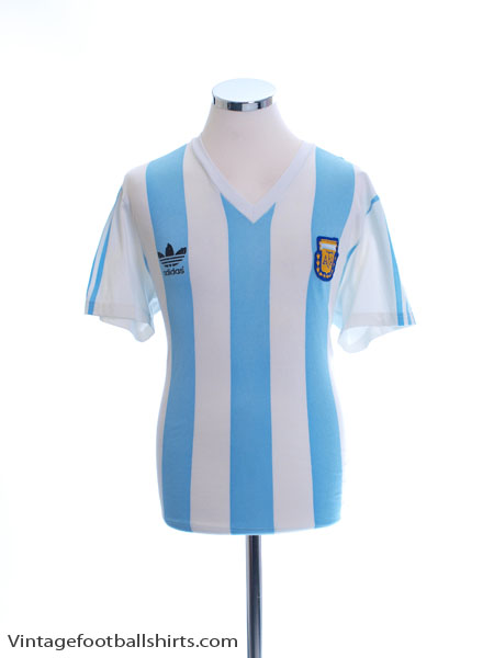 1990-91 Argentina Match Issue Home Shirt #14 M