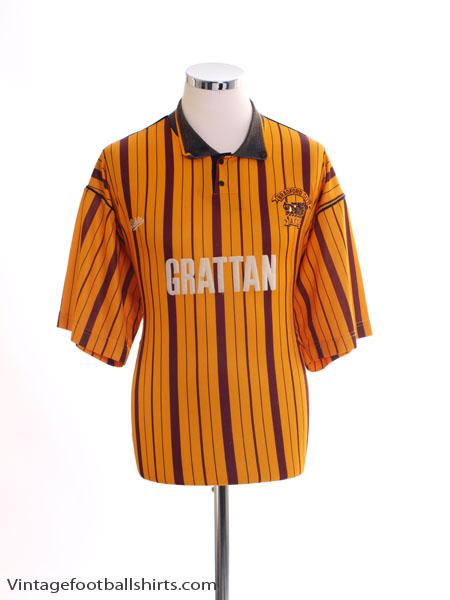 1990-91 Bradford City Home Shirt L
